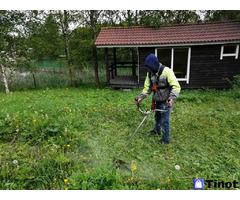 Покос травы триммер, газонокосилка