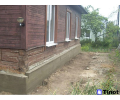 Замена венцов, ремонт фундамента, подъем и перенос домов